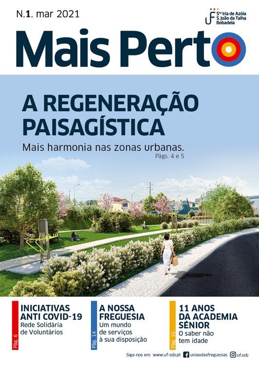 Capa da revista MAIS PERTO nº1 março 2021